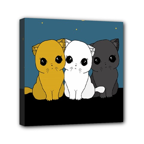 Cute Cats Mini Canvas 6  X 6