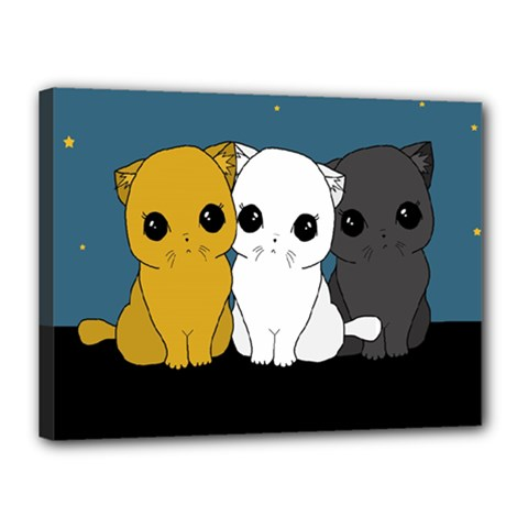 Cute Cats Canvas 16  X 12
