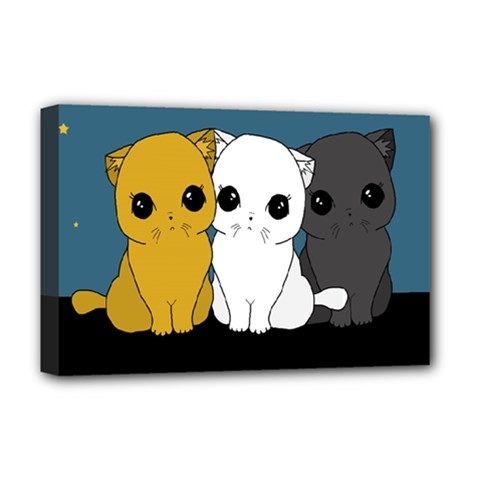 Cute Cats Deluxe Canvas 18  X 12