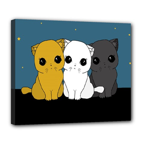 Cute Cats Deluxe Canvas 24  X 20