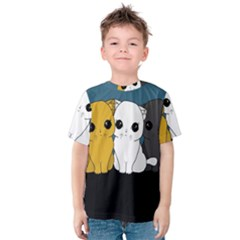 Cute Cats Kids  Cotton Tee