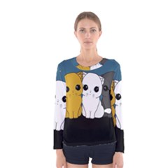 Cute Cats Women s Long Sleeve Tee