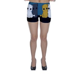 Cute Cats Skinny Shorts