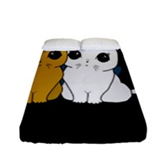 Cute Cats Fitted Sheet (full/ Double Size)