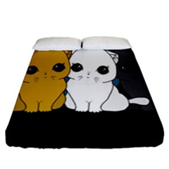 Cute Cats Fitted Sheet (queen Size)