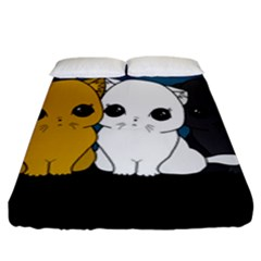 Cute Cats Fitted Sheet (king Size)
