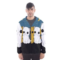 Cute Cats Hooded Wind Breaker (men)