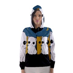 Cute Cats Hooded Wind Breaker (women)