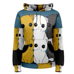 Cute Cats Women s Pullover Hoodie