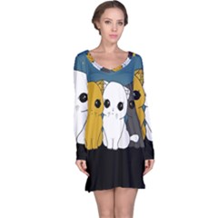 Cute Cats Long Sleeve Nightdress