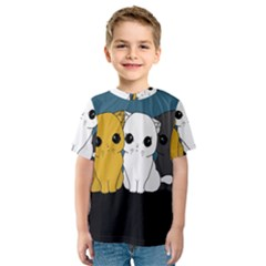 Cute Cats Kids  Sport Mesh Tee