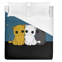 Cute Cats Duvet Cover (queen Size)