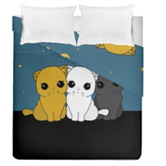 Cute Cats Duvet Cover Double Side (queen Size)