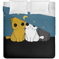 Cute Cats Duvet Cover Double Side (king Size)