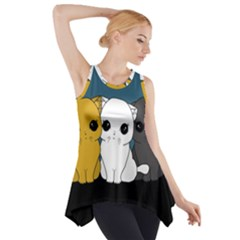 Cute Cats Side Drop Tank Tunic