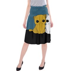Cute Cats Midi Beach Skirt