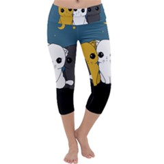 Cute Cats Capri Yoga Leggings