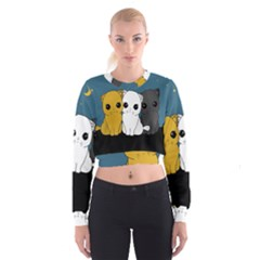 Cute Cats Cropped Sweatshirt