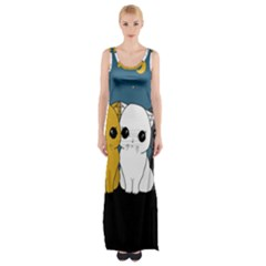 Cute Cats Maxi Thigh Split Dress