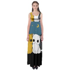 Cute Cats Empire Waist Maxi Dress