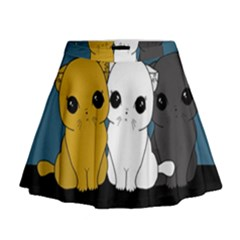 Cute Cats Mini Flare Skirt