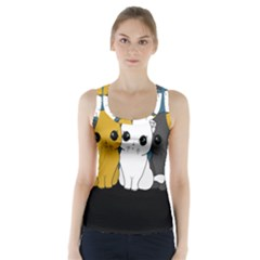 Cute Cats Racer Back Sports Top