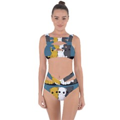 Cute Cats Bandaged Up Bikini Set