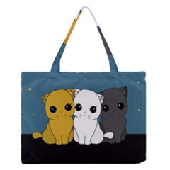Cute Cats Zipper Medium Tote Bag