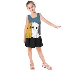 Cute Cats Kids  Sleeveless Dress
