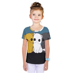 Cute Cats Kids  One Piece Tee