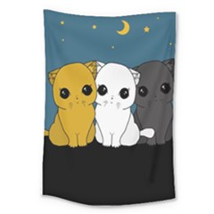 Cute Cats Large Tapestry
