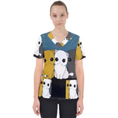 Cute Cats Scrub Top