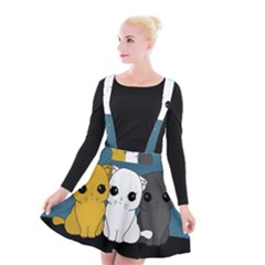 Cute Cats Suspender Skater Skirt