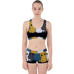Cute Cats Work It Out Sports Bra Set