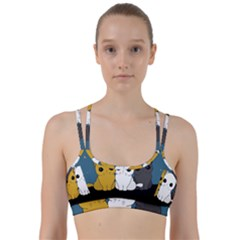 Cute Cats Line Them Up Sports Bra