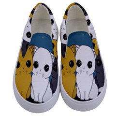 Cute Cats Kids  Canvas Slip Ons