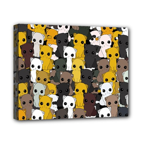 Cute Cats Pattern Canvas 10  X 8