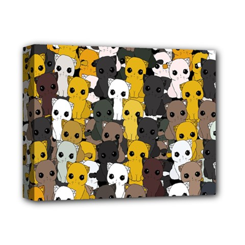 Cute Cats Pattern Deluxe Canvas 14  X 11