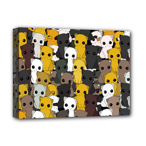 Cute Cats Pattern Deluxe Canvas 16  X 12