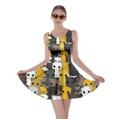 Cute Cats Pattern Skater Dress