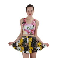 Cute Cats Pattern Mini Skirt