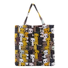 Cute Cats Pattern Grocery Tote Bag