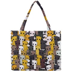 Cute Cats Pattern Mini Tote Bag