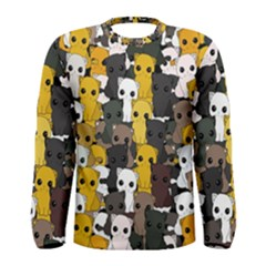 Cute Cats Pattern Men s Long Sleeve Tee