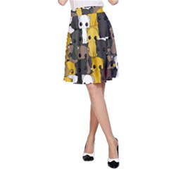 Cute Cats Pattern A Line Skirt