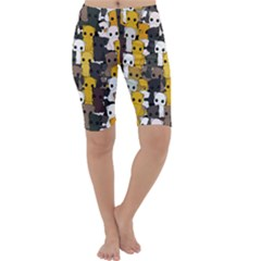 Cute Cats Pattern Cropped Leggings