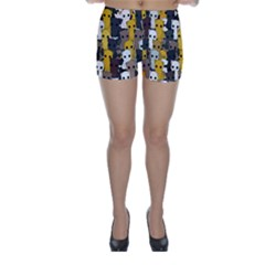 Cute Cats Pattern Skinny Shorts