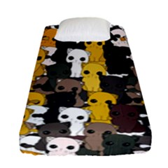 Cute Cats Pattern Fitted Sheet (single Size)
