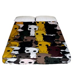 Cute Cats Pattern Fitted Sheet (king Size)