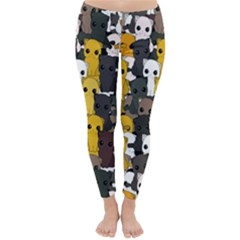 Cute Cats Pattern Classic Winter Leggings